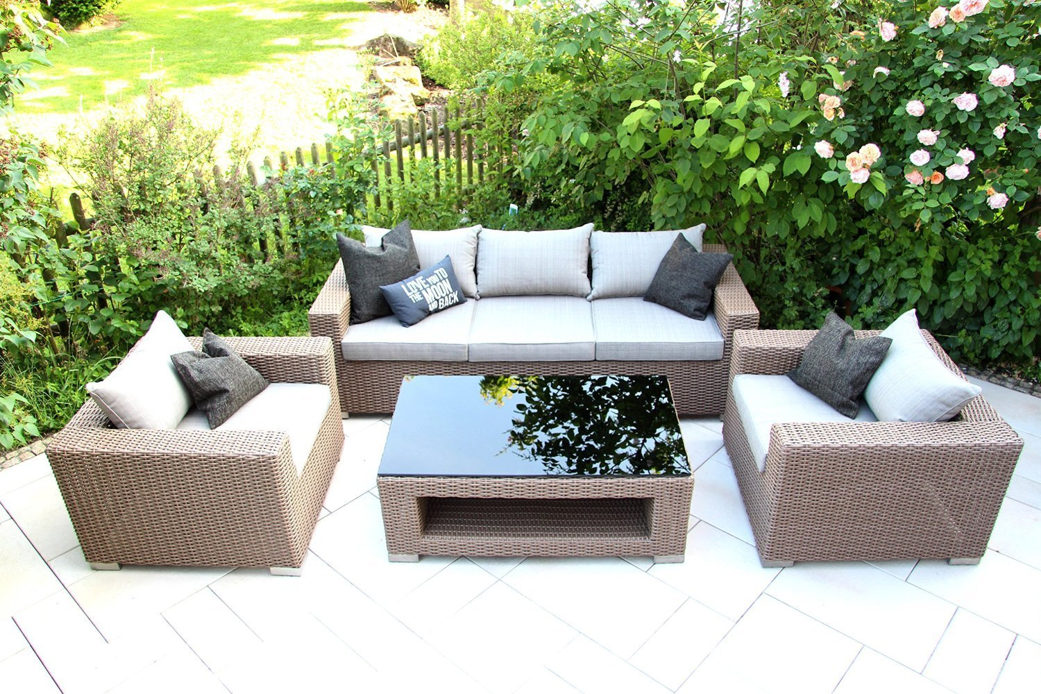 Outdoor Lounge Mobel Set Chilli By Garderobia Geflecht Toupe